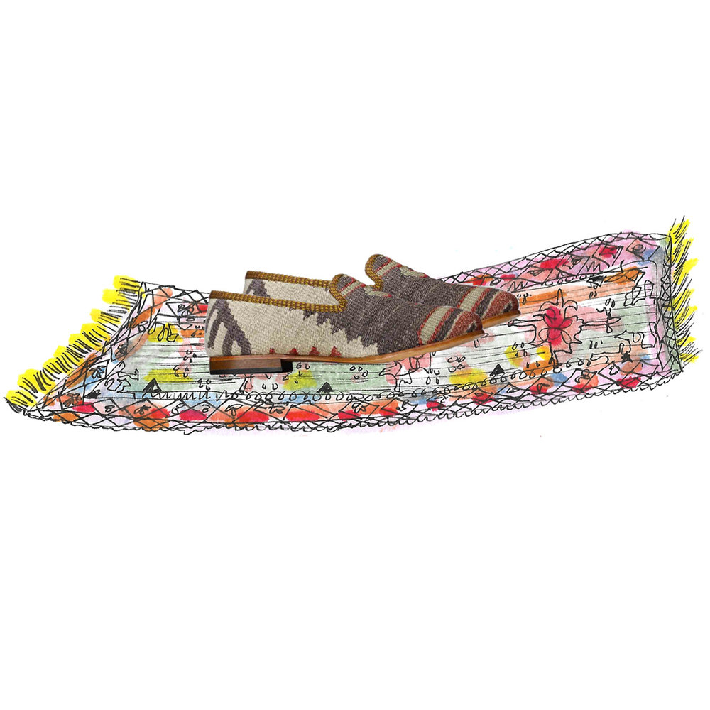 Women's Kilim Smoking Shoes - for every woman on your list