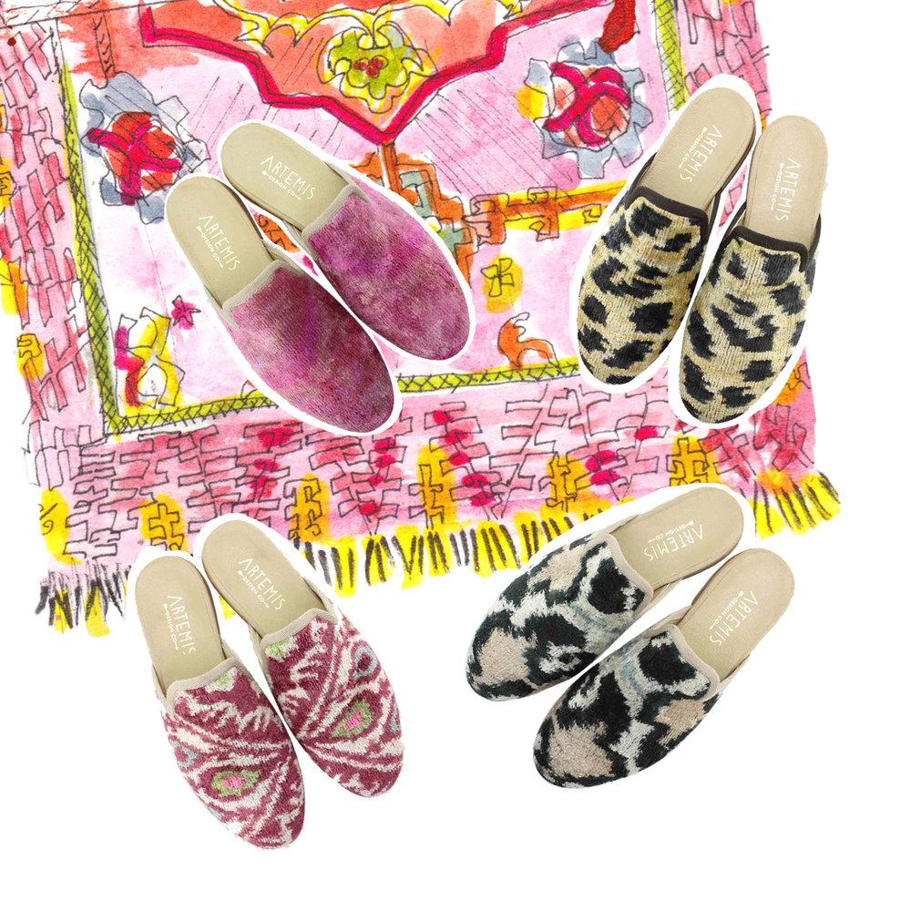 Women's Velvet Slippers - for the party animal