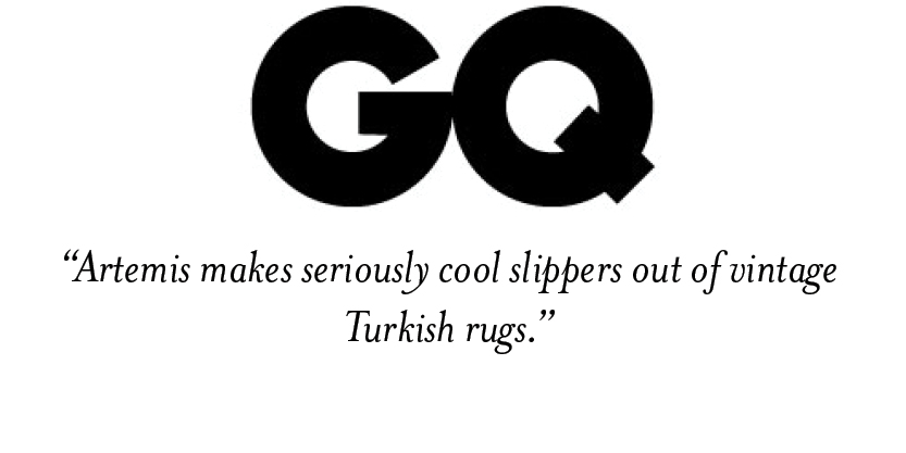 GQ- Artemis Design Co Kilim Shoe feature