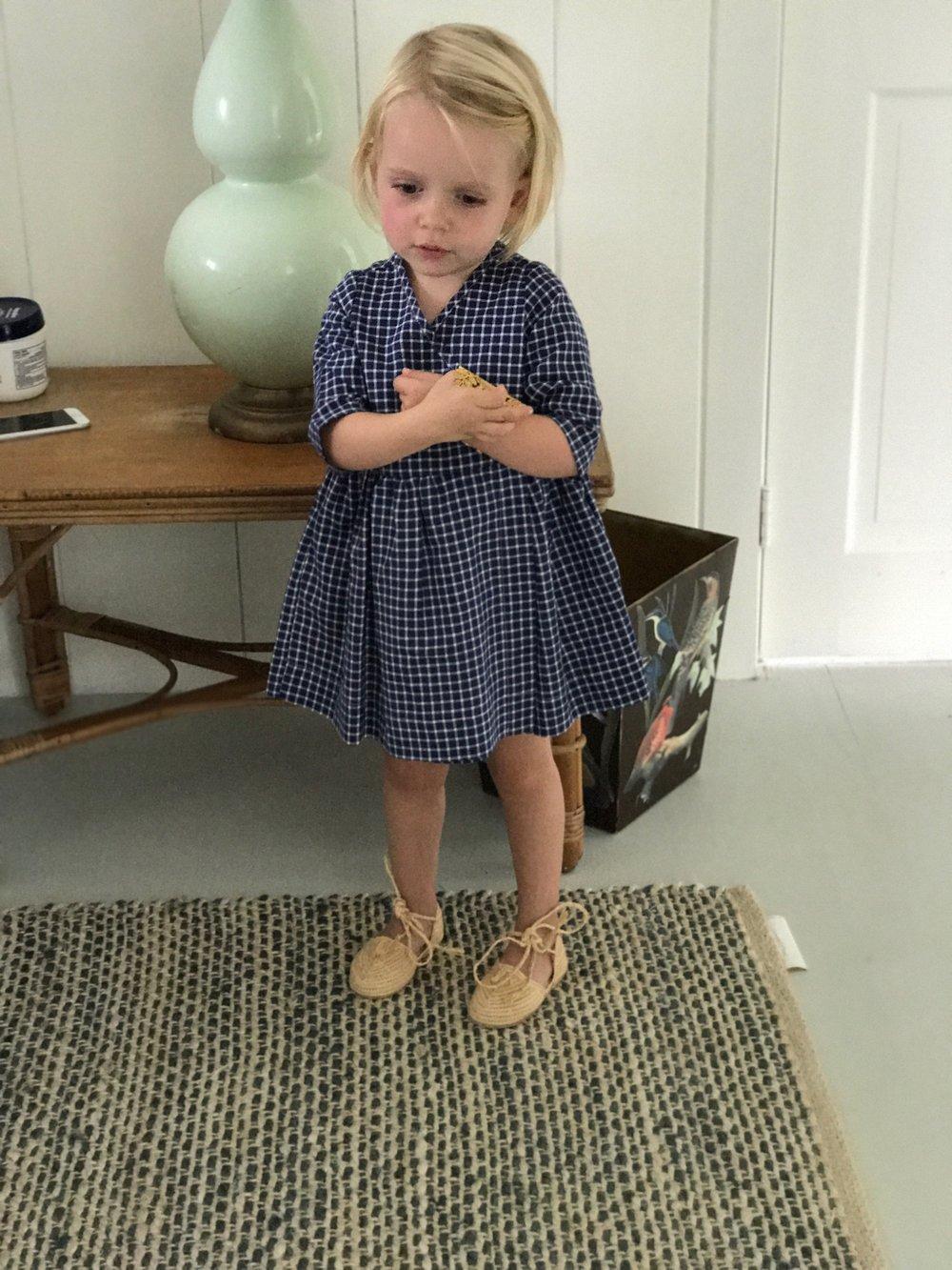 Stella Whyte Blair  In Custom Raffia Shoes