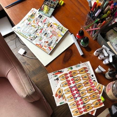 A studio tour with:  Pauline de roussy de sales,  our illustrator