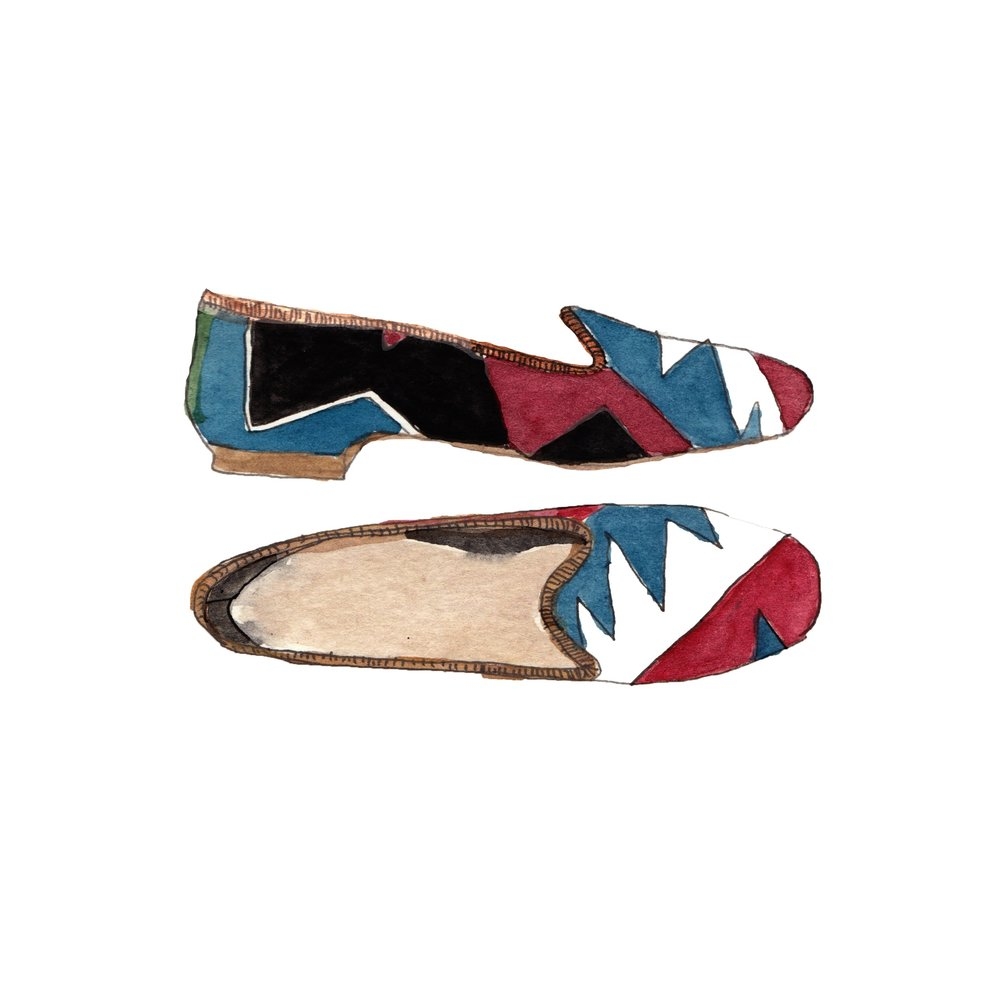 Women's Kilim Loafer illustration by Pauline