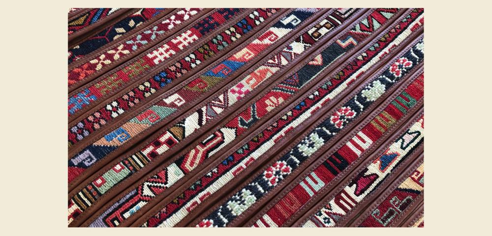 Belt, leather belt, sumak, kilim, artemis belt