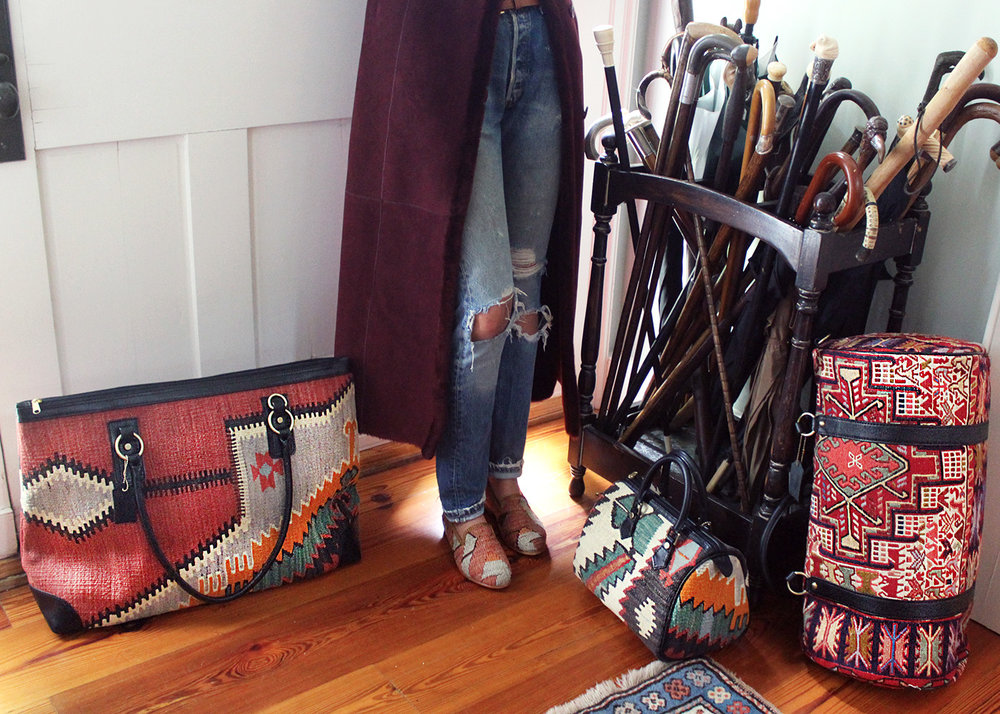 """There are 'it' bags, and then there are timeless investment pieces that pack an aesthetic punch.""   -Boston Magazine on Artemis Kilim Weekenders"