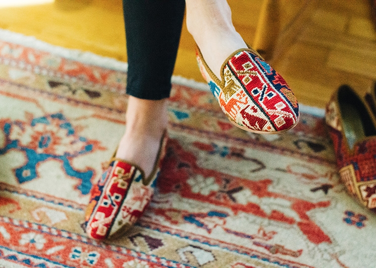 """So much love for these Kilim Smoking Shoes from Artemis...dressy or casual, they can go anywhere with you.""   -Town & Country Magazine"