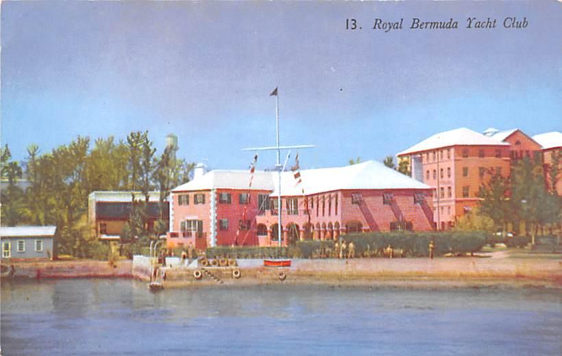 Vintage postcard of Bermuda under photo of our Kilim shoes.