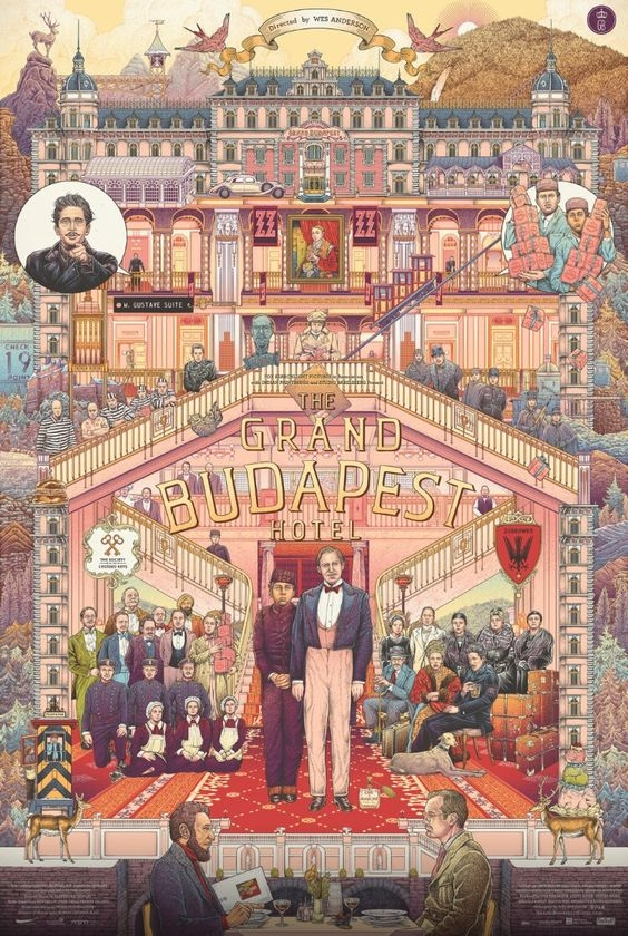 Grand Budapest Hotel, by Wes Anderson, inspiration photo for the Artemis Mood board
