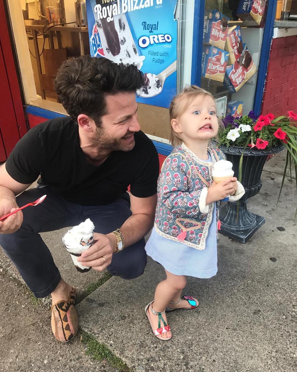 Nate Berkus & his daughter Poppy  Dairy Queen