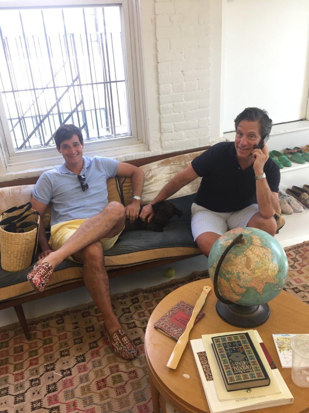 Will and Mark Rosenberg  In the Studio