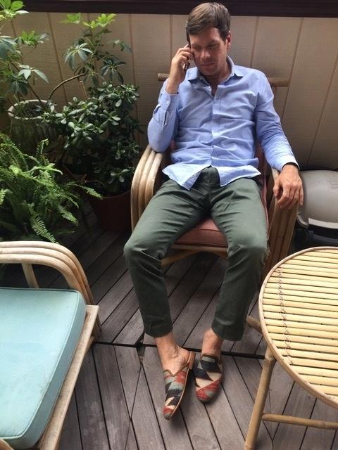 Men's Kilim Slides