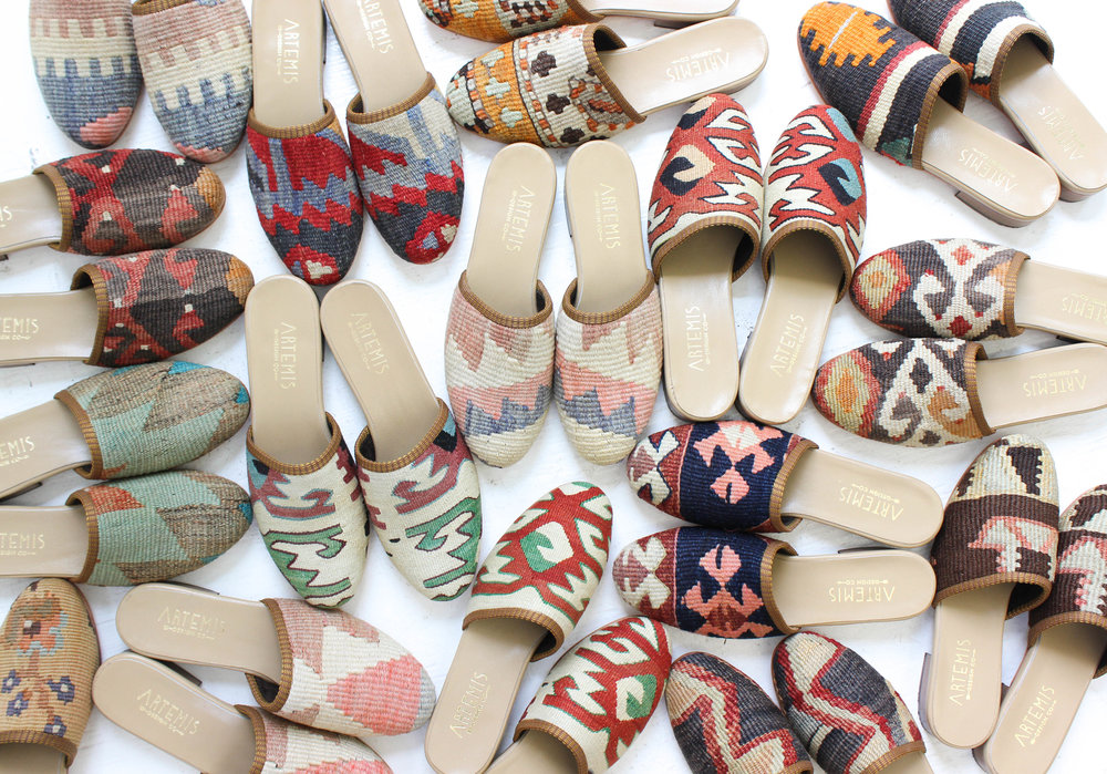"""""""We discovered Artemis Design Co. (shoes) on a family trip to Nantucket three years ago. Ever since we've been hooked""""   -Carson Griffith for Architectural Digest"""