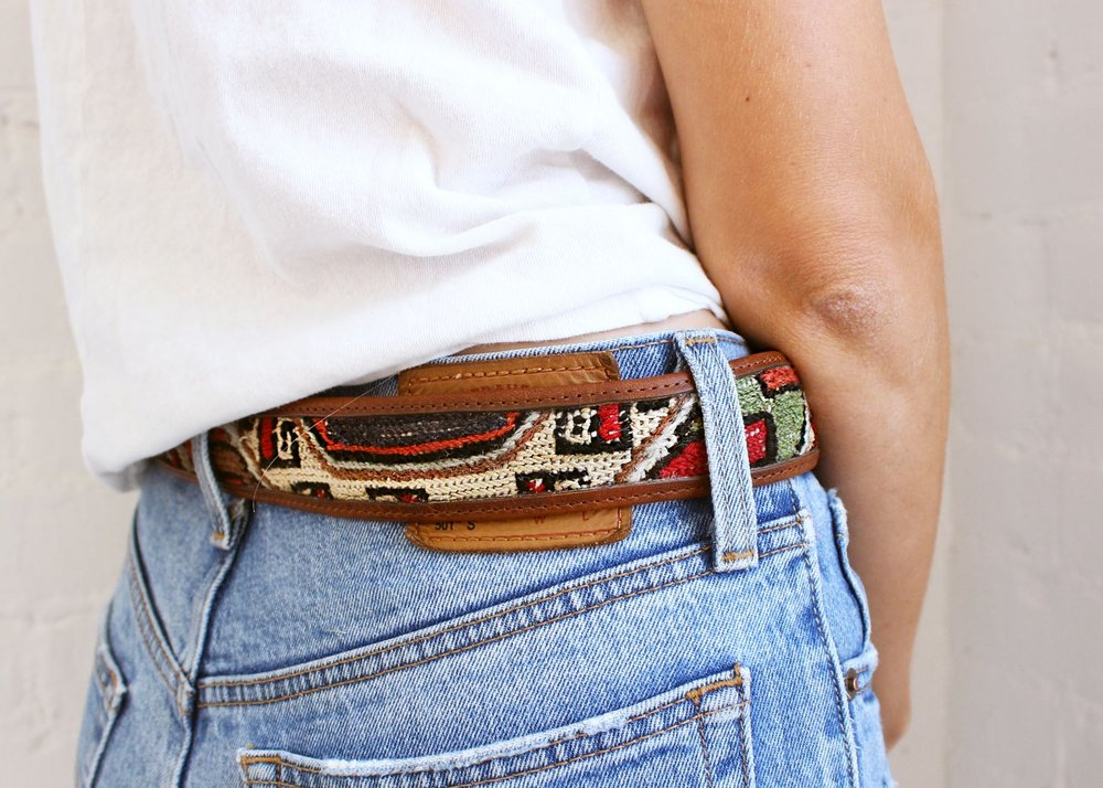 Our latest collection for men and women, the Kilim and Sumak Belt. Made from Genuine Turkish Kilim, supple leather and pure Brass hardware.
