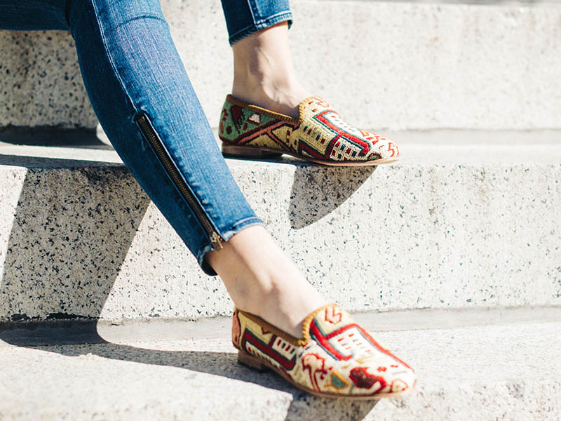 """""""So much love for these Kilim Smoking Shoes from Artemis...dressy or casual, they can go anywhere with you""""   -Town & Country Magazine"""