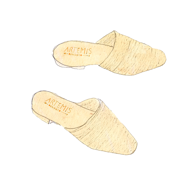 illustration of our Raffia Loafers