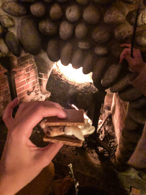 A s'more that was made.