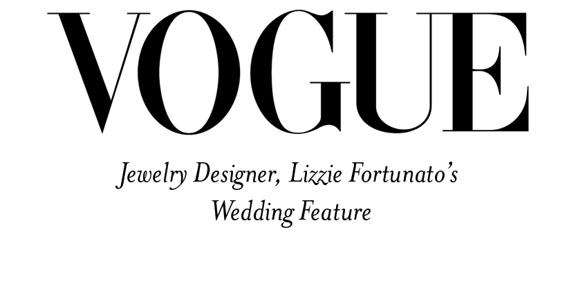 Our Kilim shoes were featured in Jewelry Designer Lizzie Fortunato's wedding-Vogue