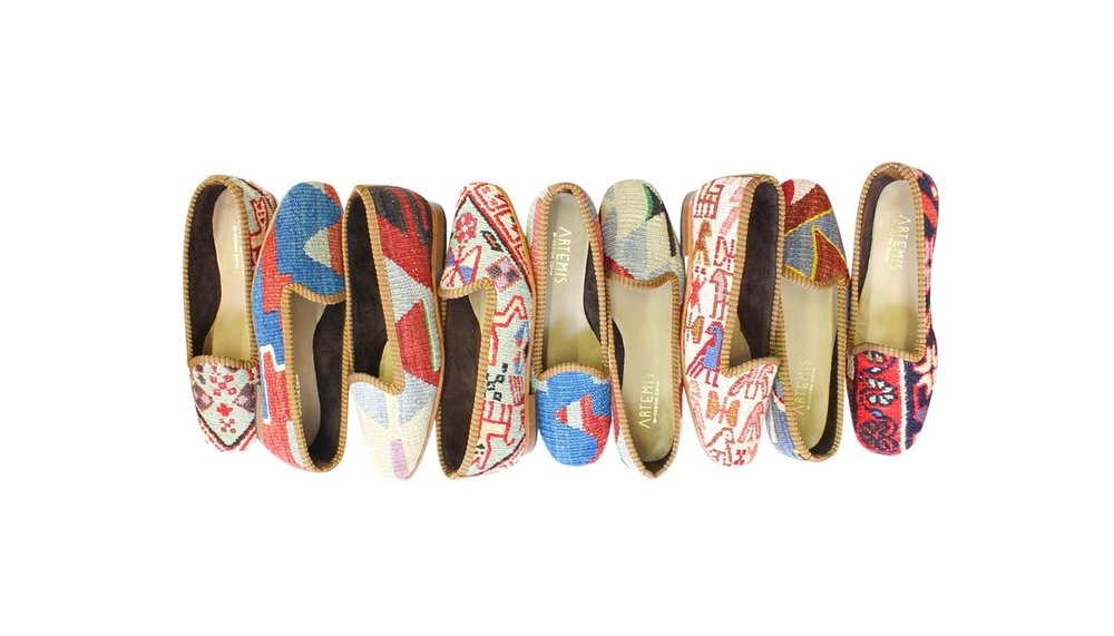 Our full selection of women's classic Kilim Loafers.