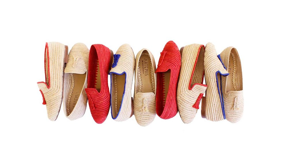 Our full selection of women's Raffia shoes and loafers.
