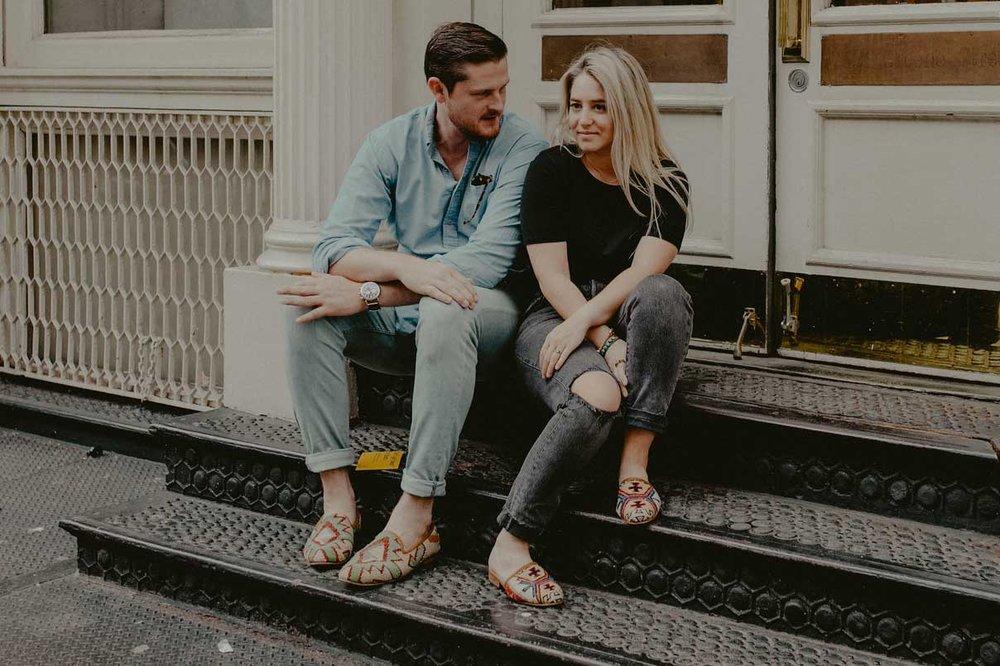 Alex Lash and her fiancéChris