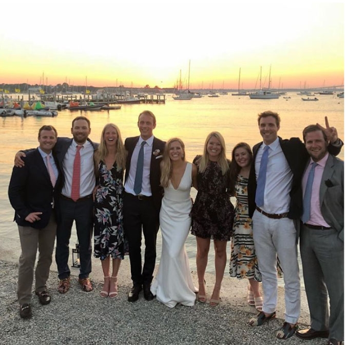 @madelynkt at a wedding at the New York Yacht Club