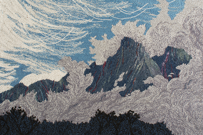 Argentière 2015 41cm x 46cm hand embroidery