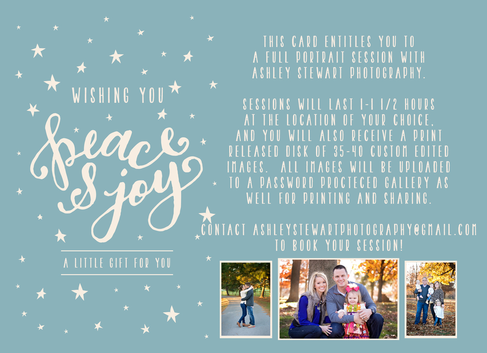 Ashley Stewart Photography Gift Card