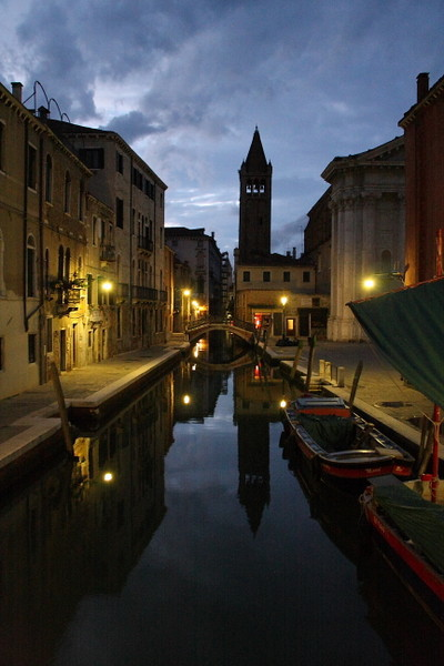 Canal with Bell Tower of San Barnaba