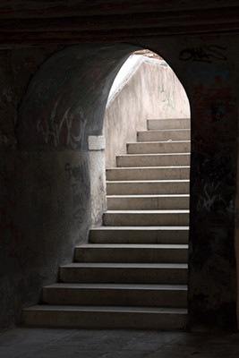 Stairs through Arch