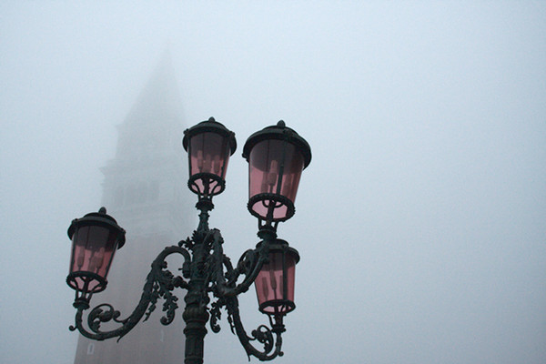 Bell Tower of San Marco in the Fog