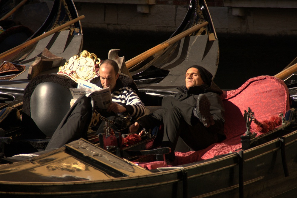 Gondoliers Taking a Rest