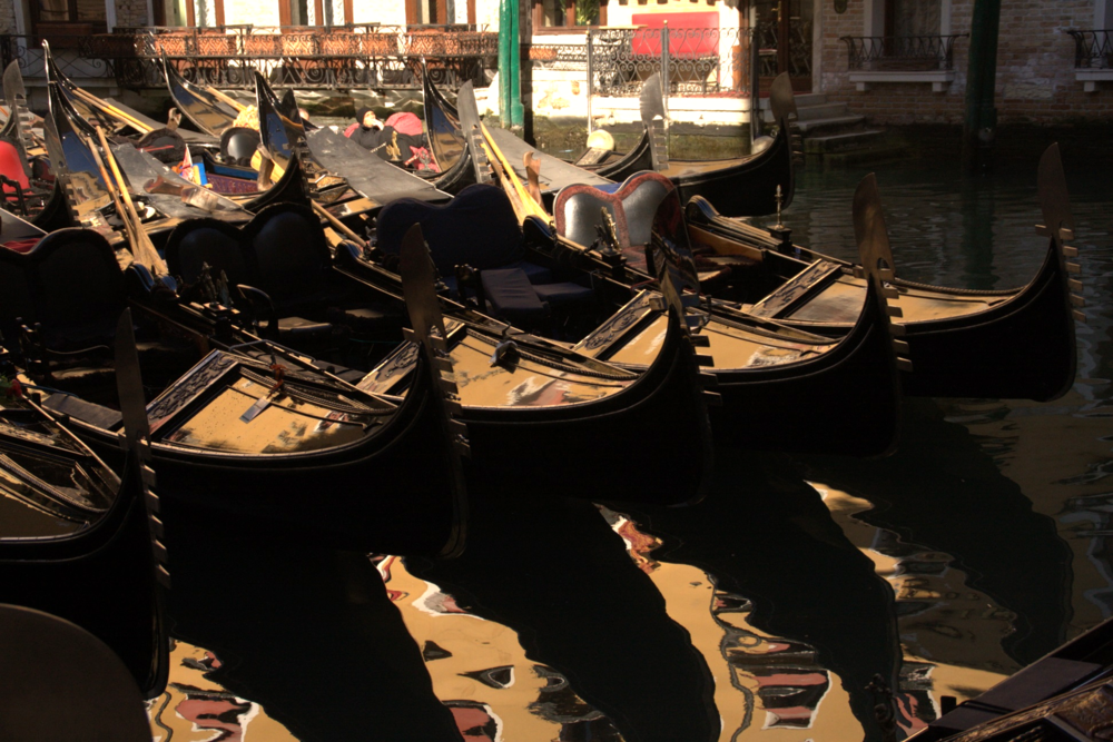 Gondolas with Reflection