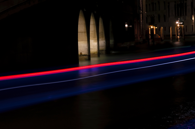 Light Trails from a Taxi