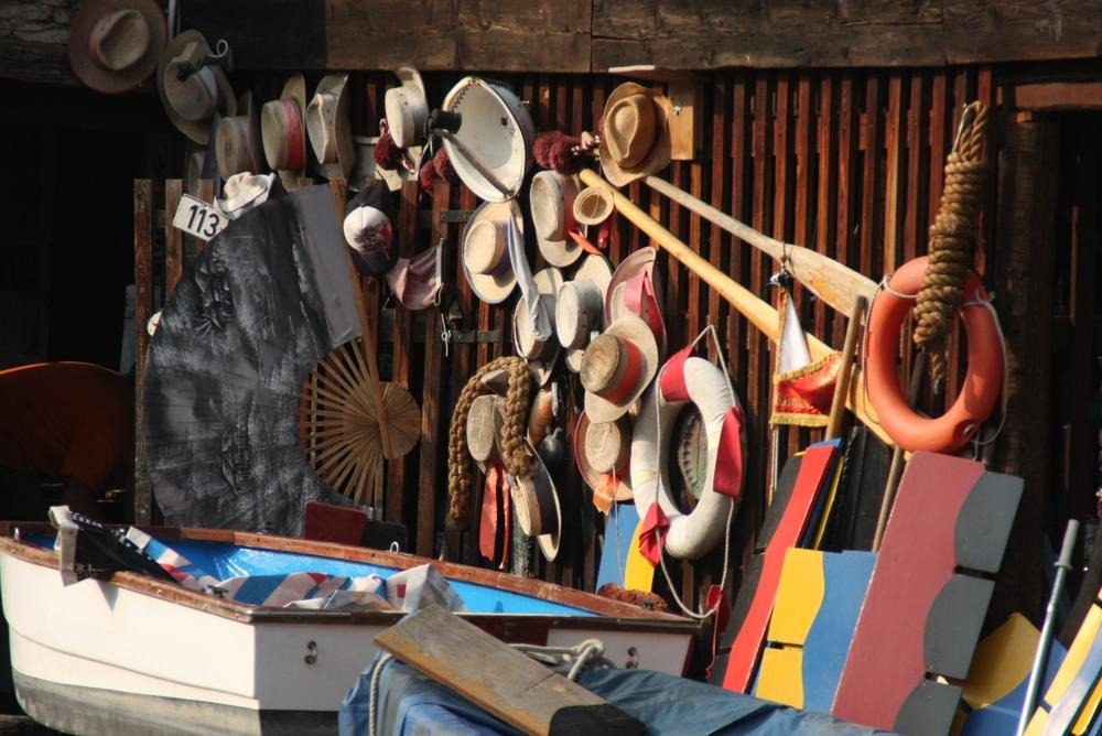 Gondolier Hats at Squero