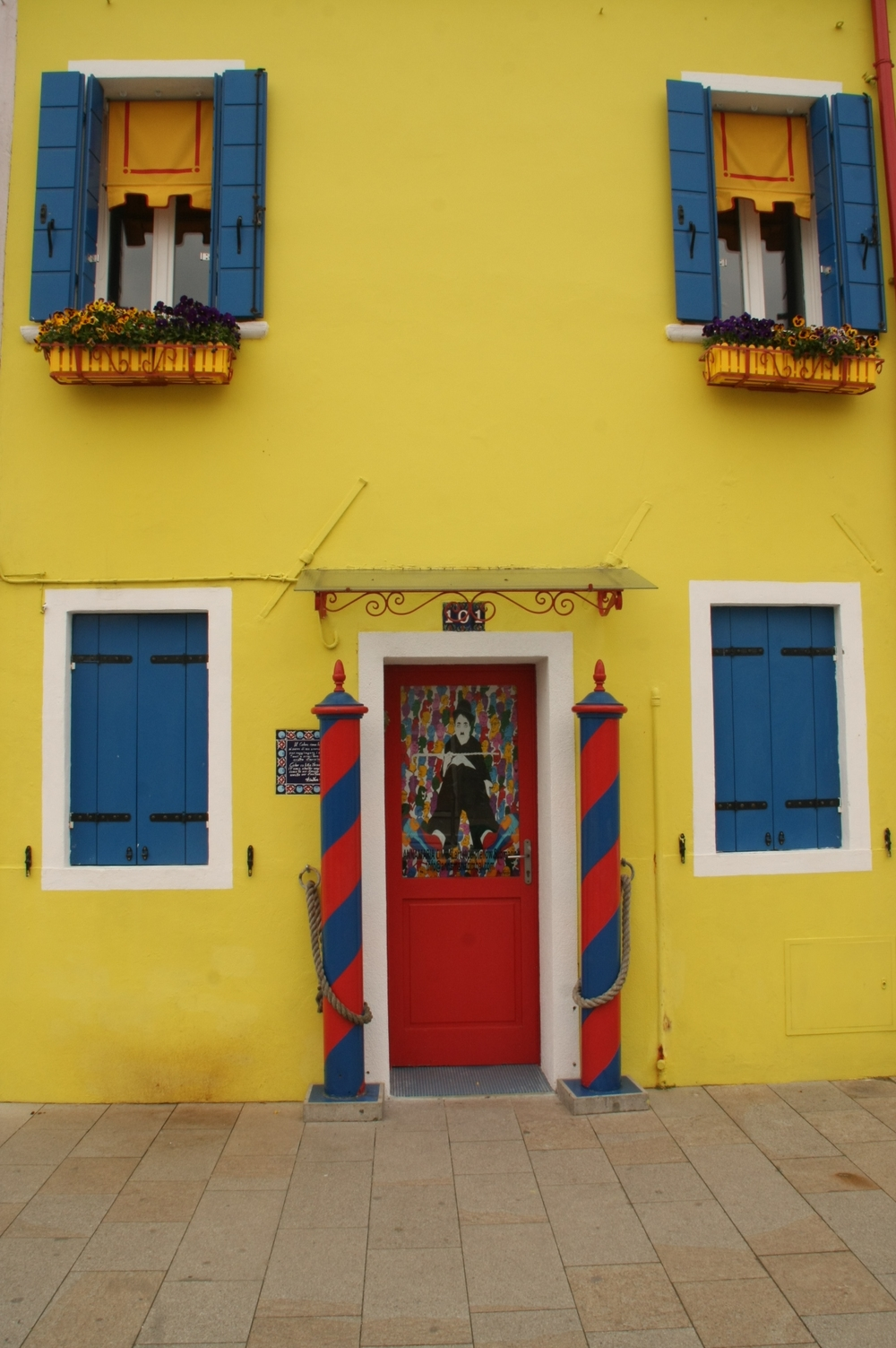 Yellow House with Poles.JPG