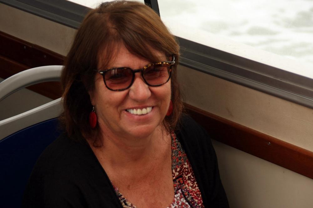 Karen on Boat