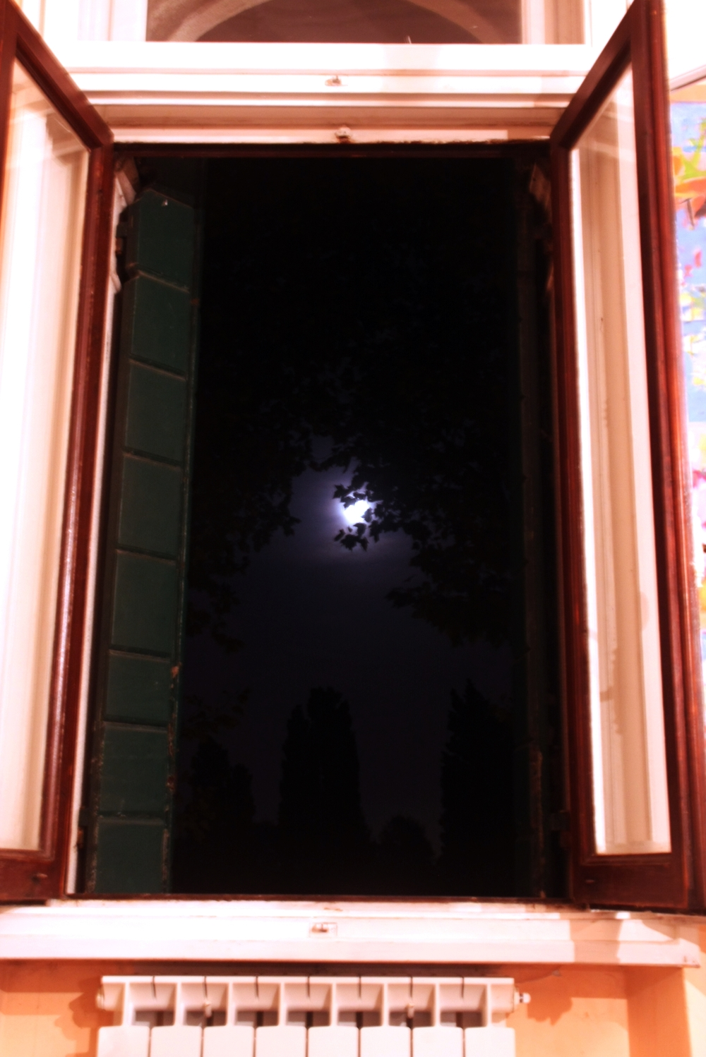Moon through Window