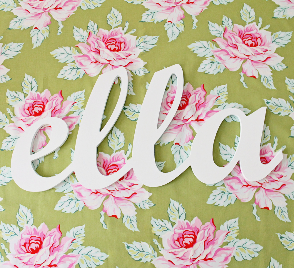 Lovey Dovey Darling Script Connected Wall Letters