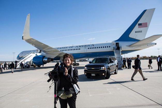 Shooting footage of Vice PresidentJoe Biden & Airforce 2