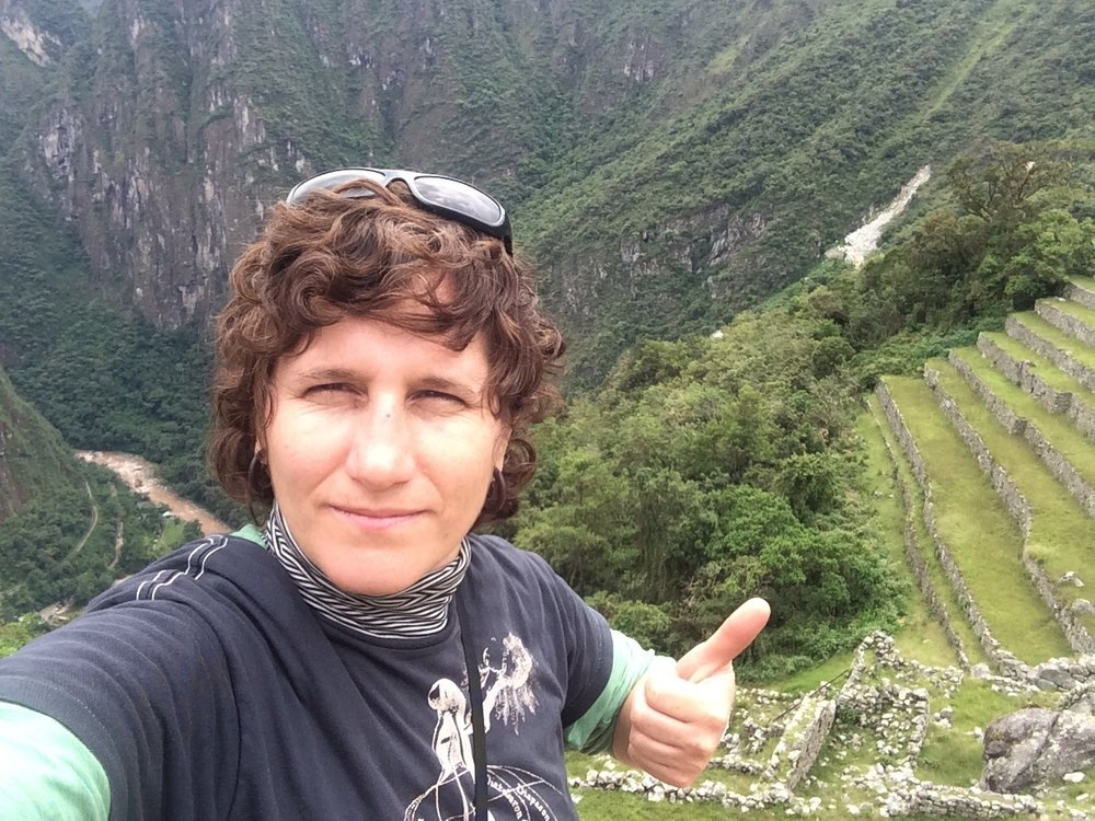 Atop the Peruvian Andes at Machu Picchu