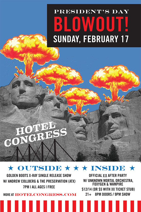 In-house poster promotion for President's day festivities .