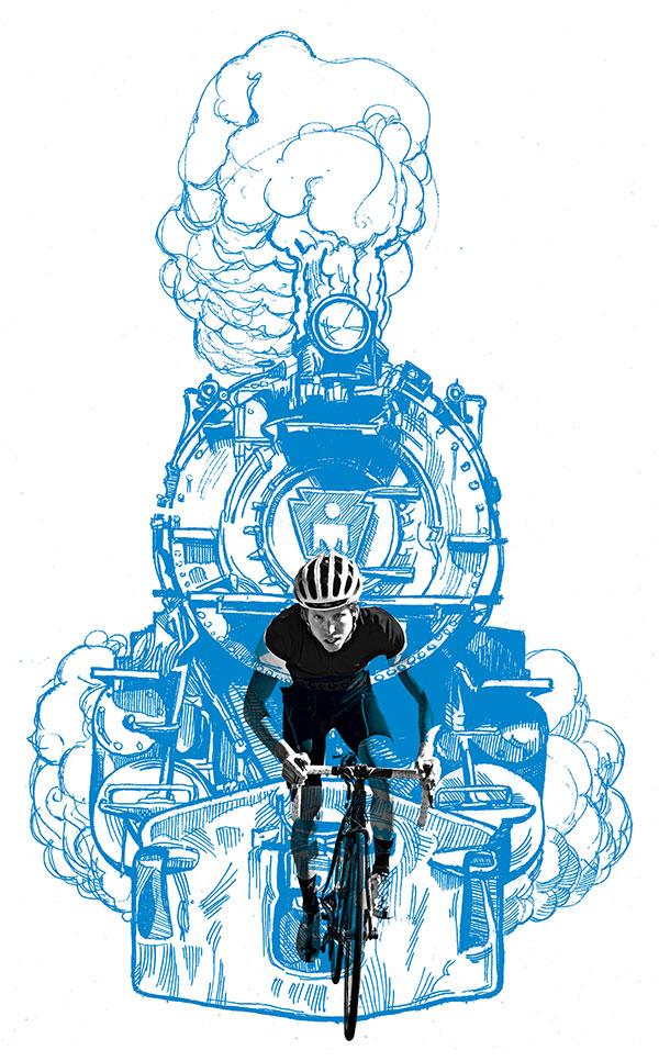 Half page illustration for Triathlete Magazine