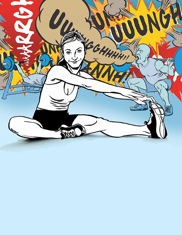 Full Page Illustration for Triathlete Magazine