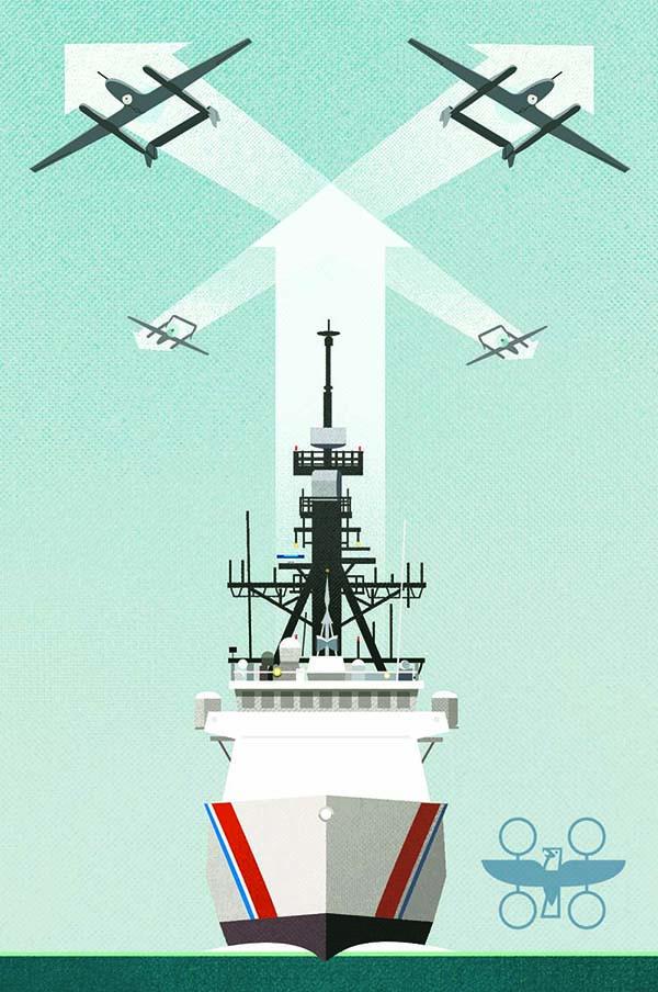 Illustration for postcard (front)