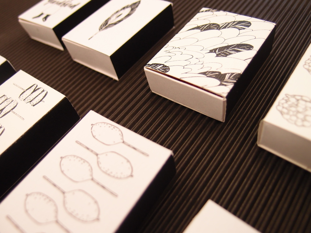 A series of matchboxes  for Hong Kong yakitori restaurant, Yardbird.