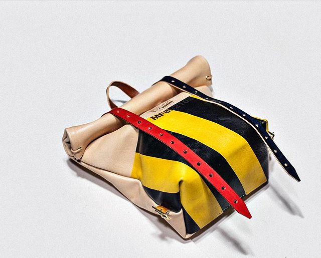 #Mifland Rolltop Rucksack Yellow/Black/Red/Blue Mifland.com