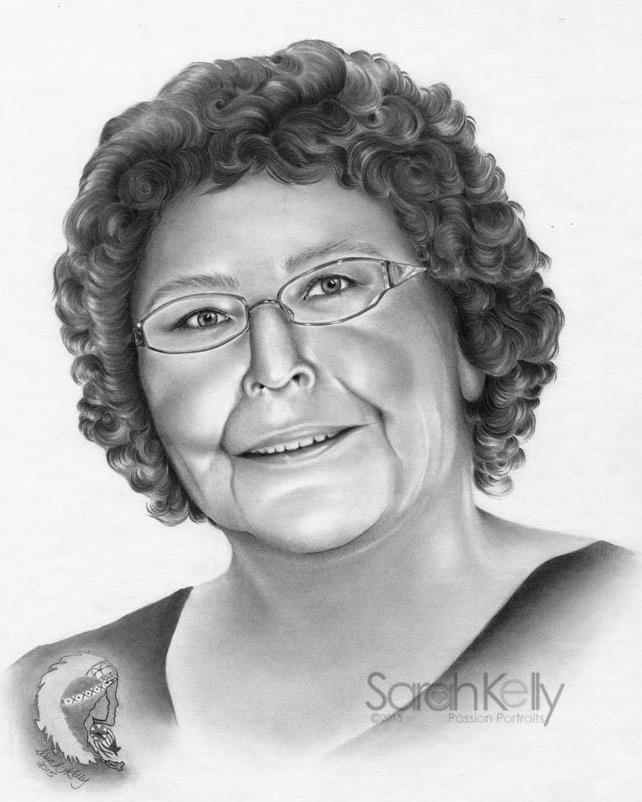 Completed pencil portrait