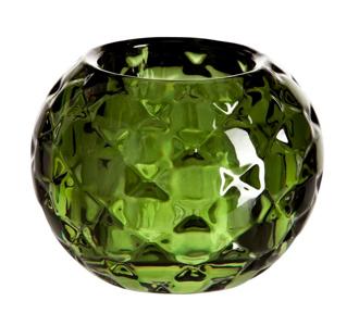 Grön ljuslykta  i glas från Åhléns, 79 kr.