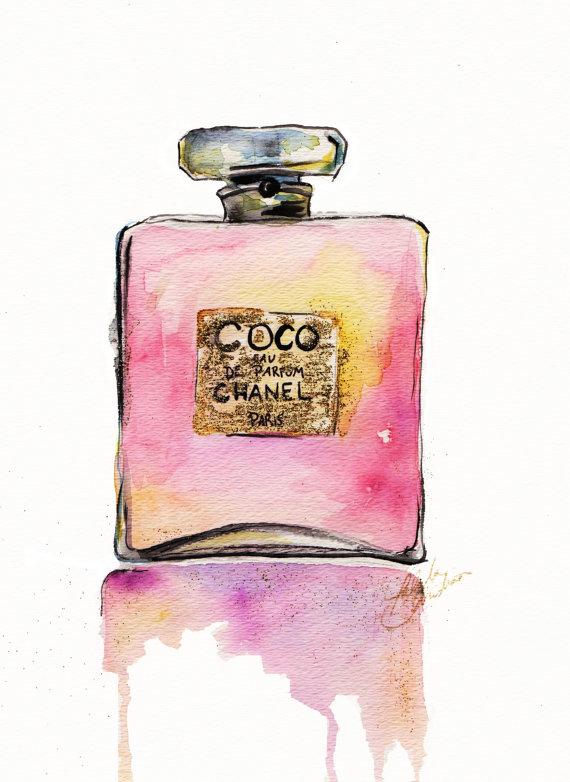 Coco Chanel-print från Etsy , ca 170 kronor.
