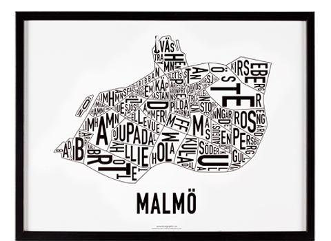 Kartan över Malmö  från Rädda barnens webbshop, 500 kronor (283 kronor går till Rädda barnen).