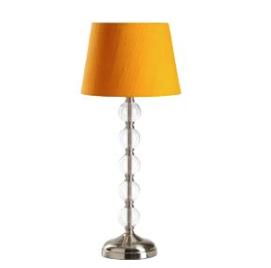 Lampfot med glaskulor  och metall, 279 kr från Åhléns.